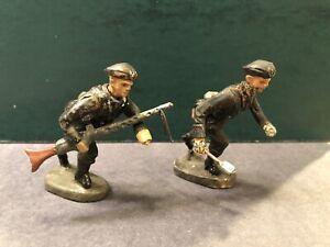 Elastolin: Rare German Panzer Grenadiers Attacking. Pre War c1940