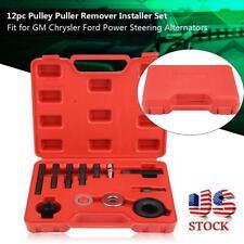 12PCS Pulley Puller Remover Installer Kit for GM Chrysler Ford Power Alternators