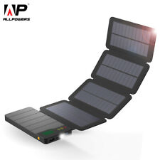 Solar Power Bank Waterproof Charger External Battery Pack for Cell Phone Tablet