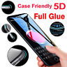 New 5D Gorilla Tempered Glass Screen Protector For iPhone 6,7,8 Plus X,XR,XS-MAX
