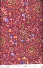 Katmandu Red Kaleidoscope Quilt Fabric - 1 1/8 Yard Piece