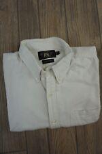 RRL Classic White Oxford Shirt Size L Large Cotton