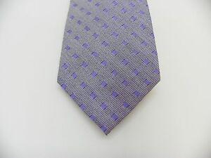 "Calvin Klein Mens Tie 3"" Wide Classic Slim Neck Tie Chalk Square Lilac Purple OS"