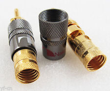 20pcs Nakamichi 24k Gold Audio Banana Speaker Plug w/expandable Contact Pin
