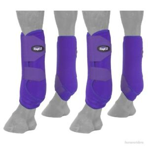 Horse Protective Sport Boots - Extreme Vented - Fronts & Rears - Purple - Small