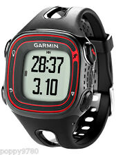 New Garmin Forerunner 10 GPS Sport Running Watch with Virtual Pacer-Black / Red