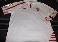 Sevilla Soccer Jersey Mens Size XL New Balance Home 2015 2016