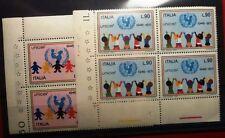 UNICEF - 2 VAL. QUARTINA  - 1971