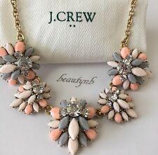 J CREW Gemstone garden fiesta necklace PALE PINK  J Crew Bag