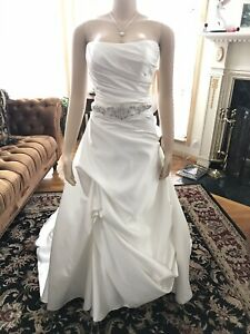 Casablanca Wedding dress Size 14 Ivory/Silver New Sample Gown
