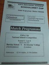 Barclay School (Stevenage) v St. ALOYSIUS College (Londra) - Esfa U16 - 2000