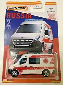MATCHBOX RUSSIA RENAULT MASTER AMBULANCE 2/6 bus