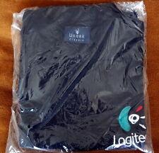 LOGITECH SHIRT BLACK - THREE BUTTON - UNEEK CLASSIC - XL - QUALITY ~ NEW k1rs
