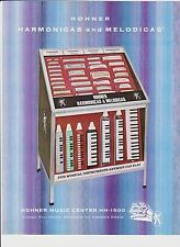 VINTAGE AD SHEET #2268 - HOHNER HARMONICA - MELODICAS - STORE DISPLAY