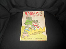 Babar Loses His Crown, vintage BCE, Beginner Books, 1967, GD cond.