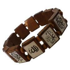 Allah Armband Armkette Armschmuck Schmuck Holzarmband Islam Mohammed Braun