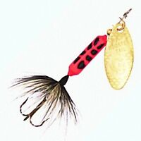 Vintage Flame Coach Dog Rooster Tail Spinner Lures - Choice of Size & Quantity