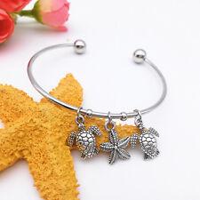 New Fashion Wild Starfish Tortoise Antique Silver Pendant Bracelet