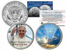 POPE FRANCIS Papal 2015 USA Visit 2-Coin Set PLEASE DON'T FORGET TO PRAY FOR ME