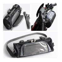 Upgrade Motorcycle Windshield Bag Electric Car Handlebar Fork Storage Container