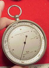 Vintage Taylor Altimeter/Barometer SMT -5-51   6,000 Ft. WORKS 3 INCH X1 1/2in
