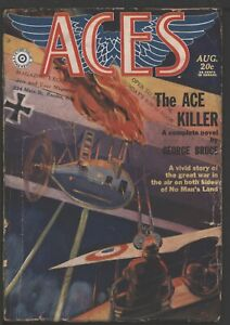 Aces 1930 August.   Pulp