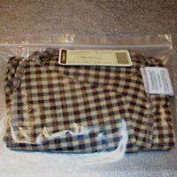 Longaberger Khaki Check MEDIUM BUSHEL Basket Liner ~ Brand New in Bag!