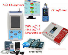 FDA CE Ambulatory Digital Arm Blood Pressure monitor BP machine, 3 cuffs +PC SW
