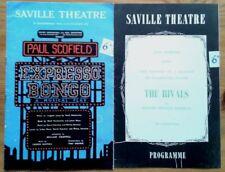 Individual/single Saville Theatre programmes 1950s, West End programme