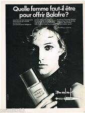 PUBLICITE ADVERTISING 105  1970  BALAFRE  eau de toilette homme de LANCOME