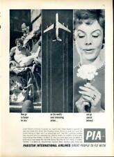 1962 Pakistan International Airlines PIA PRINT AD Europe Jet Special D Campaign