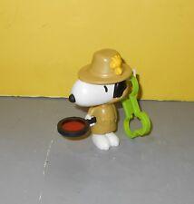2018 SNOOPY Peanuts McDonalds Toy #6 Detective Secret Agent Figure Figurine Clip