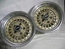 Enkei 7x14 Apache IV Gold-Mesh (BBS-style) wheels, one pair, 5 on 4.75 (120.65)