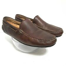 ECCO Mens Driving Moccasins Shoes Brown Leather Slip On Moc Toe Loafers 10 EU 43