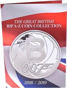 2018 - 2019 Great British 10p A - Z Coin Collection Album Collectors Coins XMAS