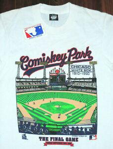 T Shirt Vintage 90s White Sox Comiskey Park Last Game MLB Baseball Size SM New