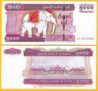 Myanmar 5000 Kyats p-83 2014 UNC Banknote