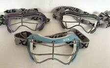 STX Women's 4 Sight Focus Lacrosse Goggles Eye Protection Mask_Black_Purple_Blue