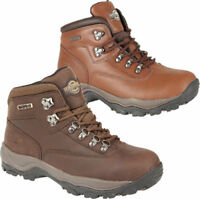 Ladies Womens Real Leather Waterproof Walking Hiking Grip Sole Ankle Shoes Sizes