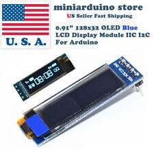 0.91'' 128x32 IIC I2C Blue OLED Display DIY Module DC3.3V 5V 128*32 Arduino
