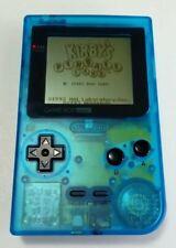 Nintendo Game Boy Pocket Clear Light Blue Handheld System - GENUINE MGB-001