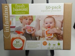 Fresh Squeezed Feeding Line 50 Pack squeeze pouches Infantino