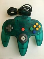Nintendo 64 N64 Controller - Ice Blue- AUTHENTIC- Loose joystick - TESTED!