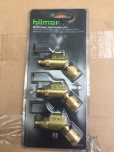 "HILMOR 1935915 SET-OF-3 BALL VALVE ENDS 1/4"" EACH ADDITIONAL BOUGHT SHIPS FREE!!"