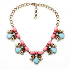 NEW Urban Anthropolo​​gie Orabella Beetle Blue Pink Red Beaded Chain Necklace