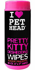 Pet Head Pretty Kitty Deshedding Wipes 50 wipes, Wipes for Cats, Yummy Pineapple