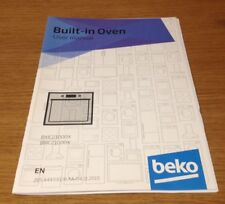 Genuine BEKO BXIC21000X & BRIC21000X Built In Oven Instruction Manual User Guide