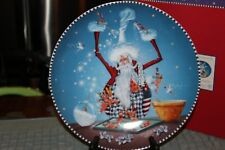 """Extremely RARE Dept 56 / Krinkles 2003 """"Christmas Eve"""" Santa Baking Cookie Plate"""