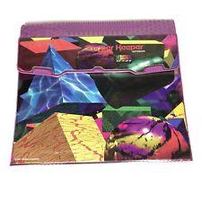 Vintage 1993 Mead Trapper Keeper Notebook Designer Series Shapes Purple RARE