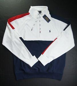 POLO RALPH LAUREN Men's Colorblocked Soft Cotton Quarter-Zip Pullover Sweatshirt